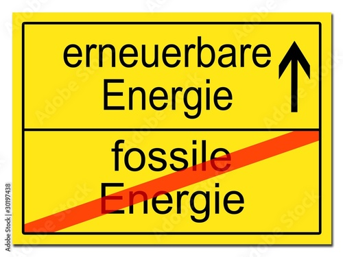 fossile erneuerbare Energie\