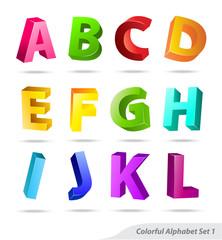 Colorful abc letter set 1