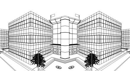 Modern Building Construction Vector 10