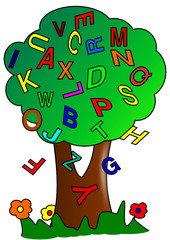 Tree and letters