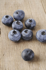 blueberry on wood