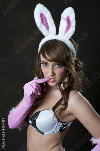 Cute female in bunny ears plants her asshole on top of a cock № 698185 бесплатно