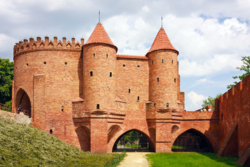 Barbican - Fortified medieval outpost - Warsaw  / Poland