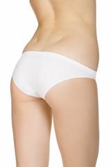 Beautiful slim female body in underwear