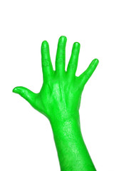 hand grün