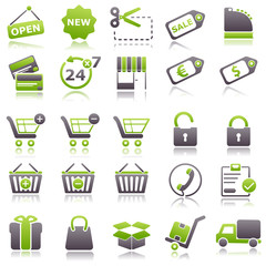 commerce Green Icons