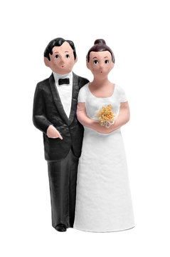 couple wedding cake topper