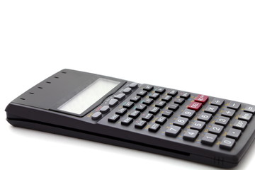 One calculator isolated on white background