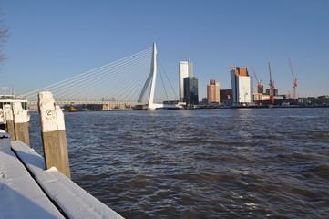 Photo sur Aluminium Rotterdam Erasmusbridge winter 2010/2011