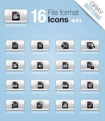 Gray Buttons - File format icons 01