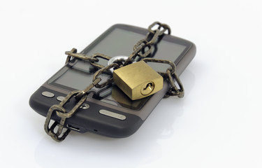 Mobile phone and padlock, communication security