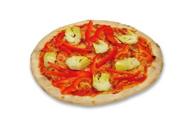 Pizza Paprika und Artischocken