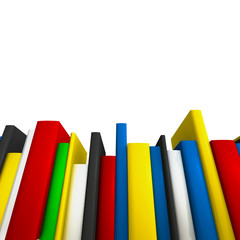 Book row as copy-space frame for educational or science subject