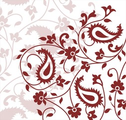 paisley floral pattern swatch