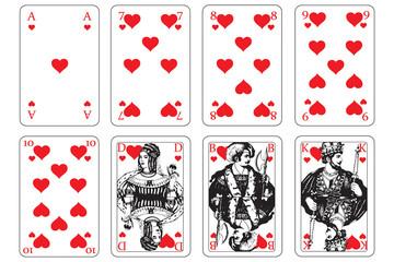 Spielkarten herz