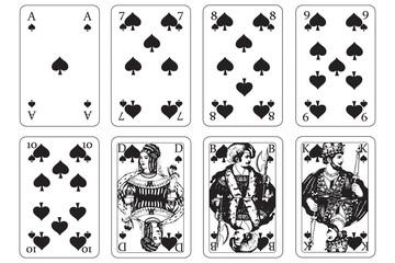 Spielkarten pik