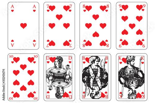 Herz Spielkarte