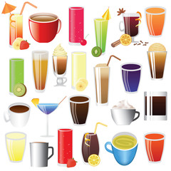 drinks - lemonade, coffee, tee, coctail