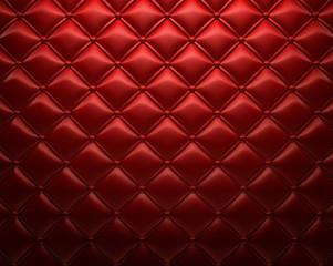 Foto op Canvas Leder Roter gepolsterter Leder Hintergrund