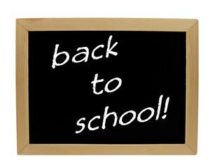 Back to school on a chalkboard / blackboard