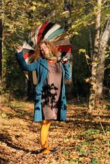 yoyng woman with umbrella
