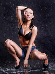 Sexy wet woman