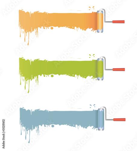 farbroller mit farbe stockfotos und lizenzfreie vektoren. Black Bedroom Furniture Sets. Home Design Ideas