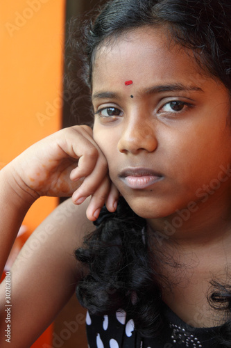 Portrait Of Cute Indian Teenage Girl