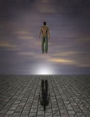 Floating figure