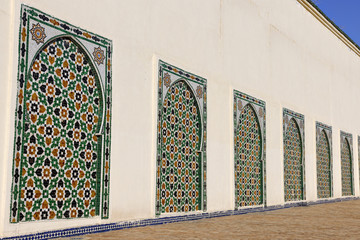 Facade of the Moulay Ismail Mausoleum in Meknes