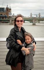 mère et fille à Londres