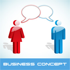 Business concept. Vector illustration.