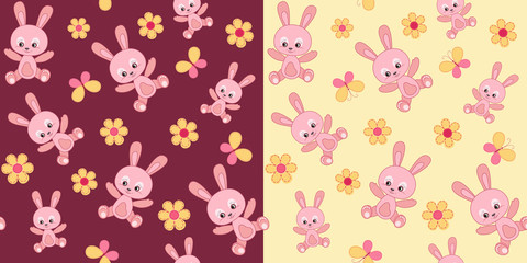 Baby seamless with bunny.