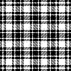 Seamless Pattern Check Black