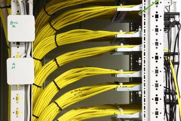 Zuleitung Kabel im EDV Raum