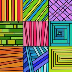Spoed Foto op Canvas Klassieke abstractie 9 motivi
