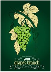 green grapes label