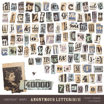 newspaper alphabet, part 2 (lower cases and numbers)