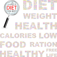 DIET. Illustration with different association terms.