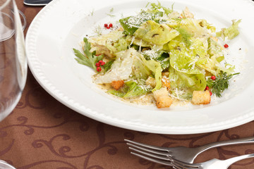 vegetable salad with croutons