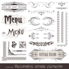 Vector ornate design elements & calligraphic page decor