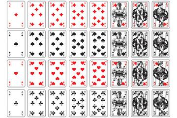 Spielkarten herz, karo, pik, kreuz