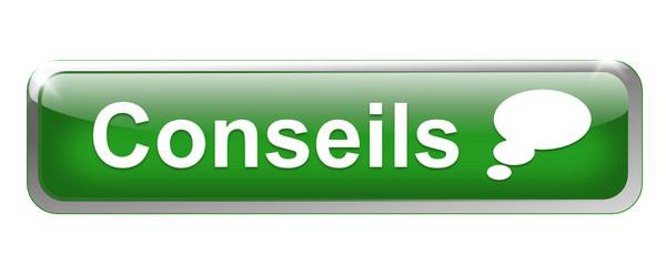 conseils sur bouton métal rectangle vert