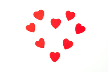 Heart from many little red hearts