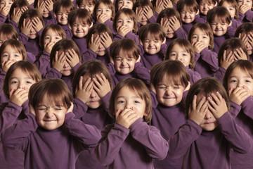 La foule d'enfants