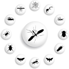 Set buttons - 180_B. Insects