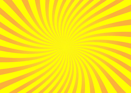 Vector orange sunburst
