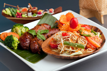 Thai Sausage and Som Tum