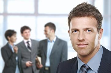 Closeup businessman portrait