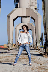 posing on the docks